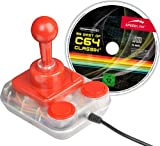Speedlink Competition Pro USB Sports Tournament Edition Joystick (Stick mit Metallfeder, Spielesammlung mit 99 C64 Klassikern) weiß orange