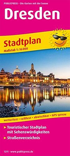 Dresden: Touristischer Stadtplan mit Sehenswürdigkeiten und Straßenverzeichnis. 1:16000 (Stadtplan/SP)