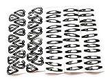 #5: Black metal tic tac hair clip s for women and girls (pair -56) (Black)