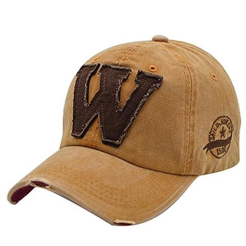 Retro Cotton Baseball Cap - iParaAiluRy Unisex Basecape Mütze für Herren, Damen, Jungen, Frauen - Outdoor Sports Freizeit Kappen Stickerei-Cowboyhut in verschienden Farben