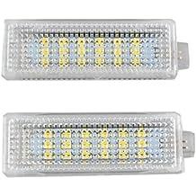 RunQiao 2 x 5W 18 LED SMD matrícula Bombilla Xenon Blanco 7000K 12 - 30 V