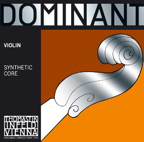 Thomastik Corde per Violino Dominant nucleo di nylon, set 4/4 forte, Mi acciaio cromato vuoto