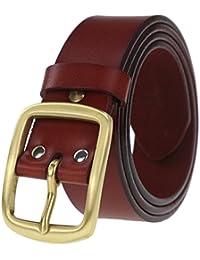 LYJBIK Cinturón Macho 3.8cm Sólido Casual