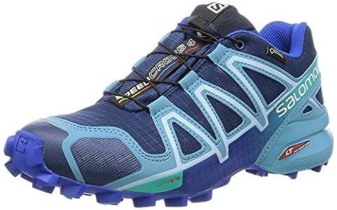 Salomon Speedcross 4 Gtx, Chaussures de Trail Femme, Bleu (Blue Depth/Blue Gum/Blue Yonder), 38 EU