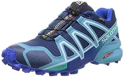 Salomon Women's Speedcross 4 Gtx Trail Running Shoes, Blue (Blue), 3.5 UK