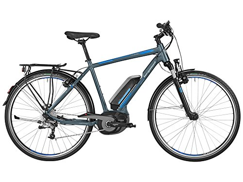 Bergamont E-Line C Dual Drive 500 Bosch Herren Pedelec Elektro Fahrrad grau/blau/weiß 2016: Größe: 60cm (186-201cm)