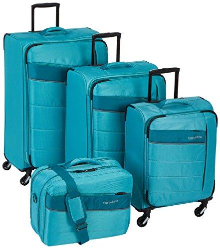 KITE 4-tlg. Kofferset, 4-Rad L/M erweiterbar/S, Bordtasche, Mint, 89940-25