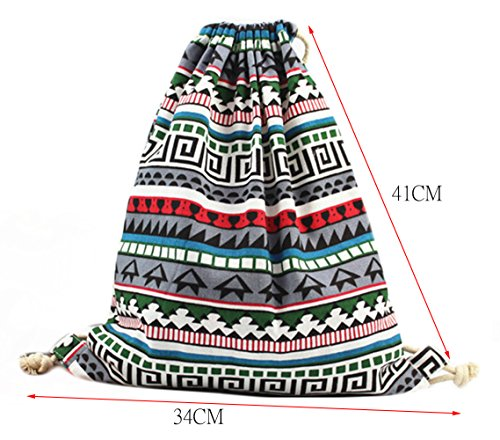 Imagen de isuperb   de tela con cordón para senderismo, ligera, diseño bonito alternativa