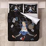Jior Home Art Bettwäsche Set Bettbezug Und 2 Kopfkissenbezug Atmungsaktiv,Anti Milben,Geeignet Für Allergische Haut,Ideal Für Kinder Jugendliche Schlafzimmer Feen Prinzessin,155x220cm