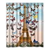 "dalliy die Eiffelturm Kostüm der Duschvorhang Shower Curtain 152cm x 183cm 60"" x 72"" D"
