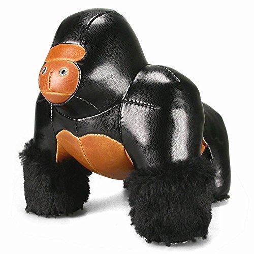 zuny-gorilla-milo-buch-und-turstopper-gross-schwarz-braun-gorilla-milo-a