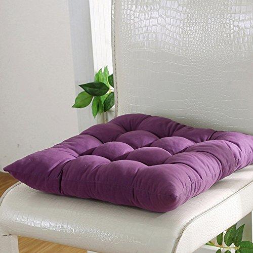 FAVOLOOK Cojín cuadrado sólido para asiento de silla con cordón para sofá de coche, oficina, tatami...