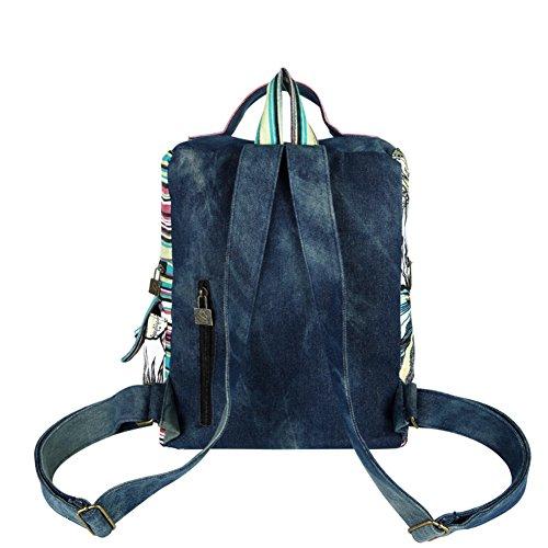 sacchetto di spalla della tela di Ms./zaino universitario del vento-A A