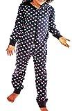 Kinder Schlaf JUMPSUIT Mädchen Pyjama Overall Schlafanzug lang Gr. 110 bis 164 (122 / 128)