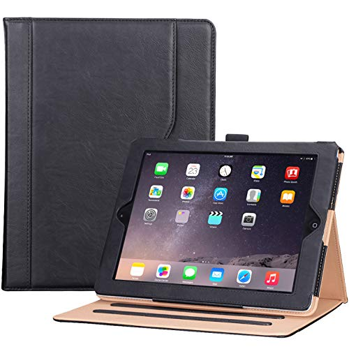 iPad 2 3 4(Altes Modell), Klapphülle Lederhülle mit Stand, Smart Cover für iPad 2nd 3rd 4th Generation -Schwarz ()