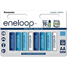 Panasonic eneloop Ocean, Ready-to-Use Ni-MH Akku, AA Mignon, 8er Pack, min. 1900 mAh, 2100 Ladezyklen, geringe Selbstentladung