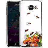 Samsung Galaxy A3 (2016) Housse Étui Protection Coque Papillons Fleur Fleur