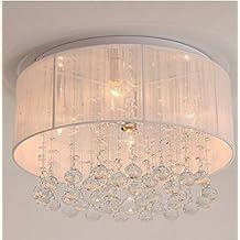 In ottone antico lampadario,luci a soffitto per soggiorno lampadario,moderno e semplice panno bianco spazzolato soffitto soffitti di cristallo soggiorno lampadario Dimensioni: 400 * 400 * 200
