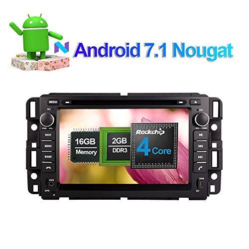 2DIN Android 7.1Auto Stereo-INDASH Navigation heand Einheit für GMC Yukon Tahoe Acadia 2007-2012mit 17,8cm LCD Unterstützung Radio RDS WiFi/3G AV OUT Bluetooth 4.0Phone Link 1080P Spiegel Link