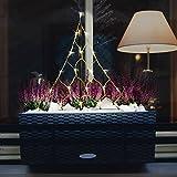 CHRISTmaxx 04280 LED-Lichterpyramide | Led Lichterkette für Balkonkästen, Blumentöpfe, Beete | 58 cm, Indoor & Outdoor, grün