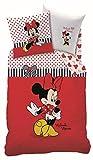CTI Bettwäsche Disney Minnie Maus/Mouse Sweetie 135x200+80x80cm 100% Baumwolle Linon