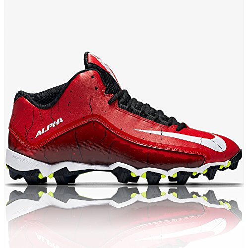 Chaussures Nike Alpha Shark 23/4American Football, rouge Rouge