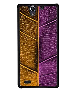 PrintVisa Designer Back Case Cover for Sony Xperia C4 Dual :: Sony Xperia C4 Dual E5333 E5343 E5363 (Flake leaf Creative leaf)