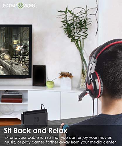 FosPower Stereo Audio Klinken Kabel Adapter Verlängerungskabel (0,9m) Verlängerung für AUX Eingänge 3.5mm Stecker auf 3,5 mm Buchse [Vergoldete Kontakte] für Audio iPhone, iPod, iPad, MP3-Player, Kopfhörer, Lautsprecher, Android Smartphones, Tablets – Schwarz - 5