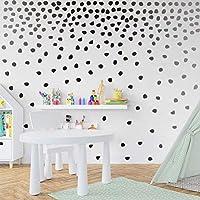 Black Irregular Dots Wall Decal Minimalist Geometric Decal for Kids Bedroom Classroom Decoration(240pcs Dots Sticker)