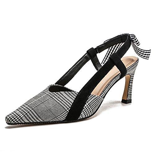 Xue Qiqi elegante de alta Heel Shoes señaló sandalias de tacón con finas y elegantes tacones chica delgada video wild shu,37