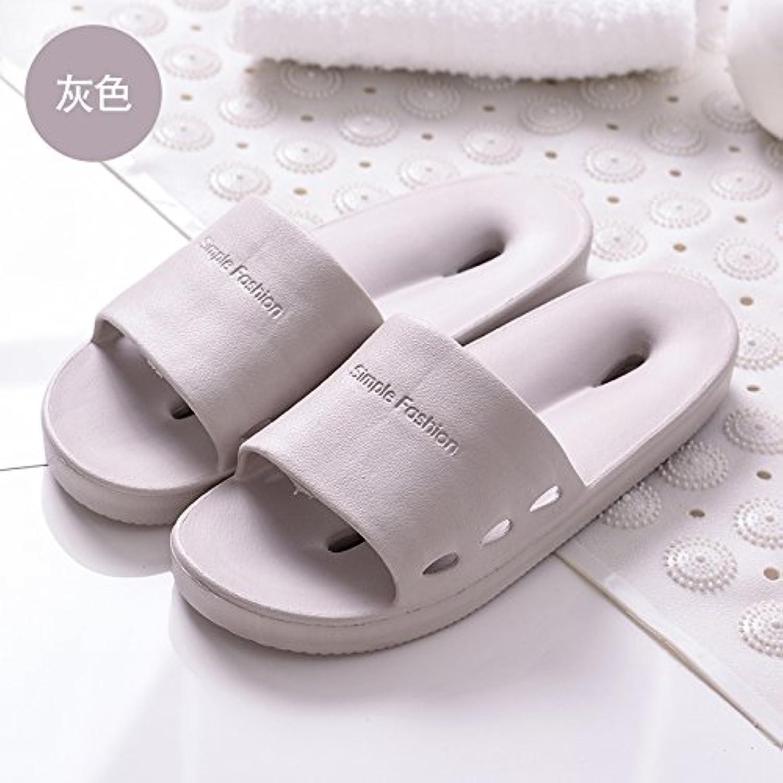 Fankou Cool Zapatillas casa de verano wc bañera ducha WC Zapatillas de verano ,hembra 43-44, gris
