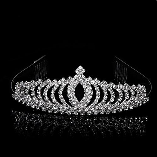 Novia Corona Diadema Tiara Cristal Diamante Rhinestone Para Boda Banquete Fiesta