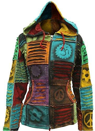 Shopoholic Moda Pixie Mujer Hippie EMO gótico Sudadera con Capucha Jersey de Hippy Boho Chaqueta Small