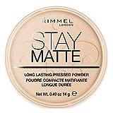 Rimmel Stay Matte, Cipria compatta - Peach Glow immagine