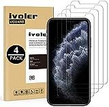 iVoler [4 Pack] Pellicola Vetro Temperato per iPhone 11 PRO/iPhone XS/iPhone X/iPhone 10 5.8 Pollici [Garanzia a Vita], Pellicola Protettiva, Protezione per Schermo - Transparente