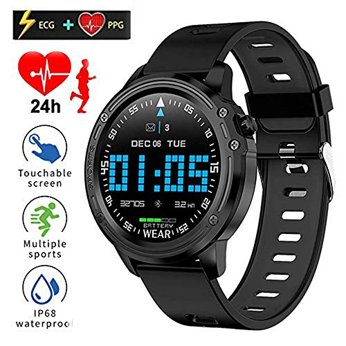 JJINGINS L8 Smart Watch Fitness Tracker ECG + PPG Blutdruck Pulsuhr IP68 Wasserdicht Fitness Band Sport Armband