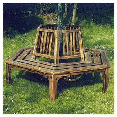 Admirable Wooden Semi Circular Tree Seat Fantastic Burnt Solid Wood Semi Circular Garden Bench Ideal For Using Around A Tree Or Other Vertical Feature Pdpeps Interior Chair Design Pdpepsorg