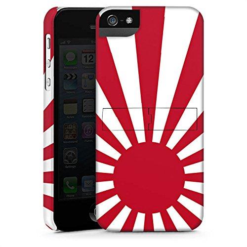 Apple iPhone 5s Housse étui coque protection Marine Japon Japon Drapeau CasStandup blanc