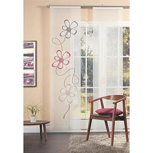 Home Fashion 87323-756 Scherli - Panel japonés, Fabricado en Gasa de Batista, 245 x 60 cm, Color Burdeos