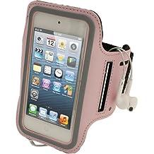 igadgitz Rosa Reflektierende Anti-Rutsch Neopren Sports Armband Oberarmtasche für Apple iPod Touch 6. Generation (Juli 2015) & 5. Generation (2012-2015)