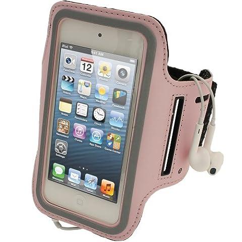 igadgitz Rose Brassard Jogging Sport Gym Réfléchissante Antidérapant pour Apple iPod Touch 6ème Génération (Juillet 2015) & 5ème Génération