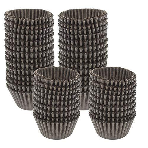 Mini Papier-Backförmchen Cupcake Liner Schokolade Papier Süßigkeiten Cups Muffin Wrapper Braun ()