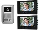 Video-Türsprechanlage 4 Draht zwei 7´´ Monitore (Außenstation Aufputz) .