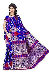 Vatsla Enterprise Women's Silk Saree (APEX102BLUE__Blue_Free Size)