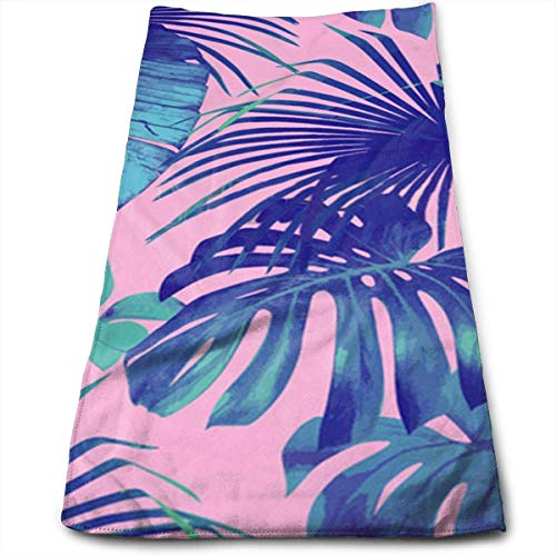 ERCGY Beautiful Summer Flowers Tropical Palm Leaves Kitchen Towels - Dish Cloth - Machine Washable Cotton Kitchen Dishcloths,Dish Towel & Tea Towels for Drying,Cleaning,Cooking,Baking (12