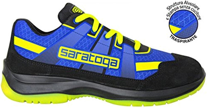 SARATOGA - n°40 Scarpe Antinfortunistiche MAXILOGO Super leggere estive giallo | Diversificate Nella Confezione  | Scolaro/Signora Scarpa