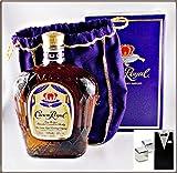 Crown Royal Canadian Whisky mit 2 Original Edelstahl Kühlsteine im Smoking, kostenloser Versand