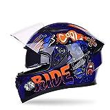 MQL Persönlichkeit Cooler Motorradhelm, Rennsport, Offroad, Extremsport, Antibeschlag und...