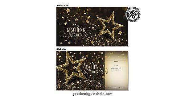 Weihnachts-Geschenkgutscheine mit Kuverts für alle Branchen X1285
