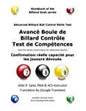Avance Boule de Billard Controle Test de Competences: Confirmation réelle capacité pour les joueurs dévoués